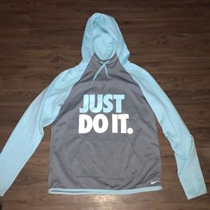 Women's Nike Just Do It Mint and Gray Sweatshirt